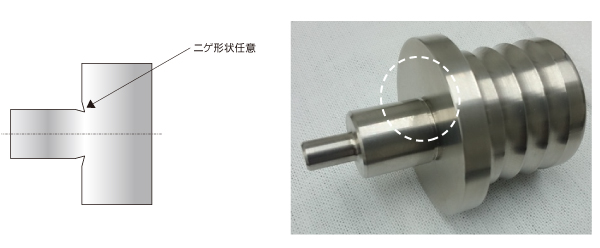 刃物の逃げ(旋盤加工)の設定による機械加工コストダウンのポイント Before