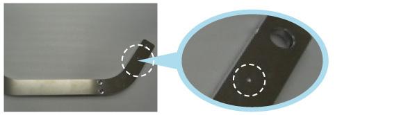 位置決め穴の追加による機械加工コストダウンと高精度化のポイント Before