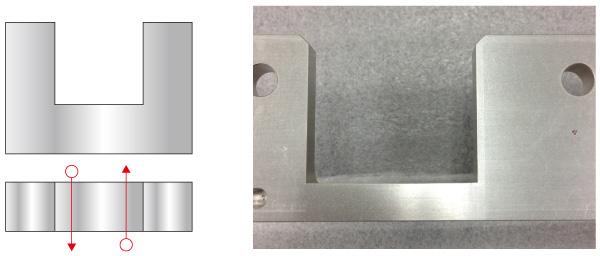 ピン角部の設計変更による機械加工コストダウンのポイント Before
