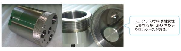 タフトライド処理によるステンレス材料の滑り性確保のポイント Before
